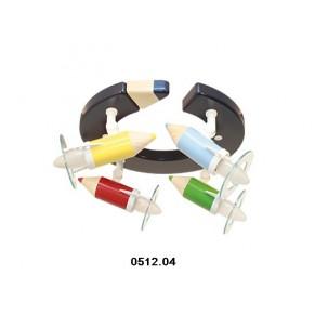 Otroška svetila barvica stropna (4 žarnice)