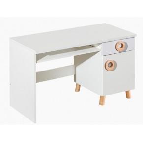 Pisalna miza sivo bela