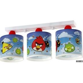 Stropno svetilo Dalber Angry Birds z tremi lučmi