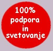 100% podpora in zadovoljstvo