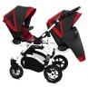 Vozički za dvojčke Babyactive Twinni Premium belo ohišje